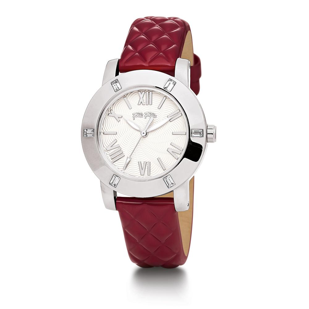 FOLLI FOLLIE - Γυναικείο ρολόι FOLLI FOLLIE μεταλλικό κόκκιν...