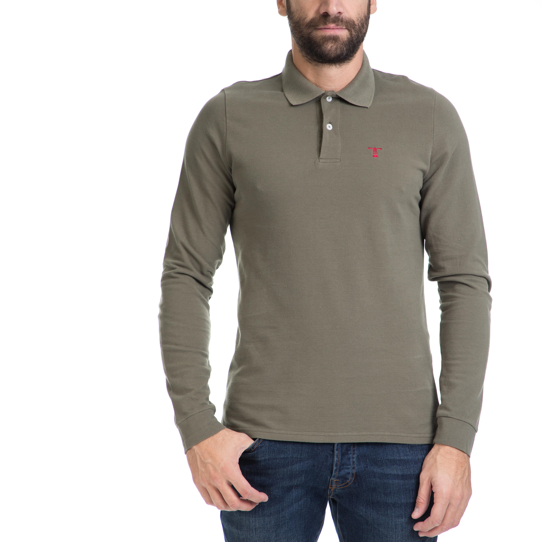 ba3cfa54105f HAMPTONS – Ανδρική πόλο μπλούζα HAMPTONS χακί – Online Ρούχα