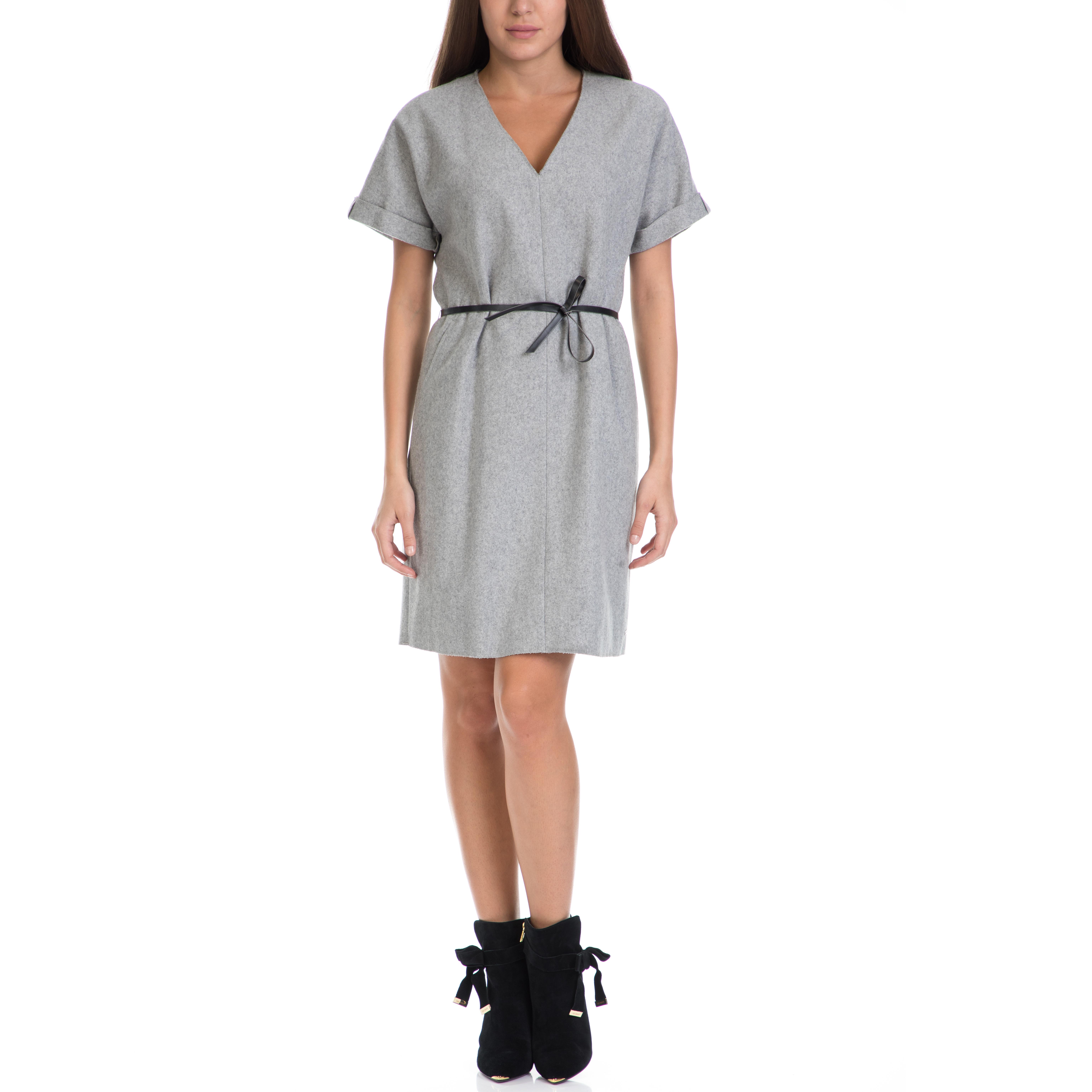 TOMMY HILFIGER - Γυναικείο φόρεμα PIA TOMMY HILFIGER γκρι γυναικεία ρούχα φορέματα μίνι