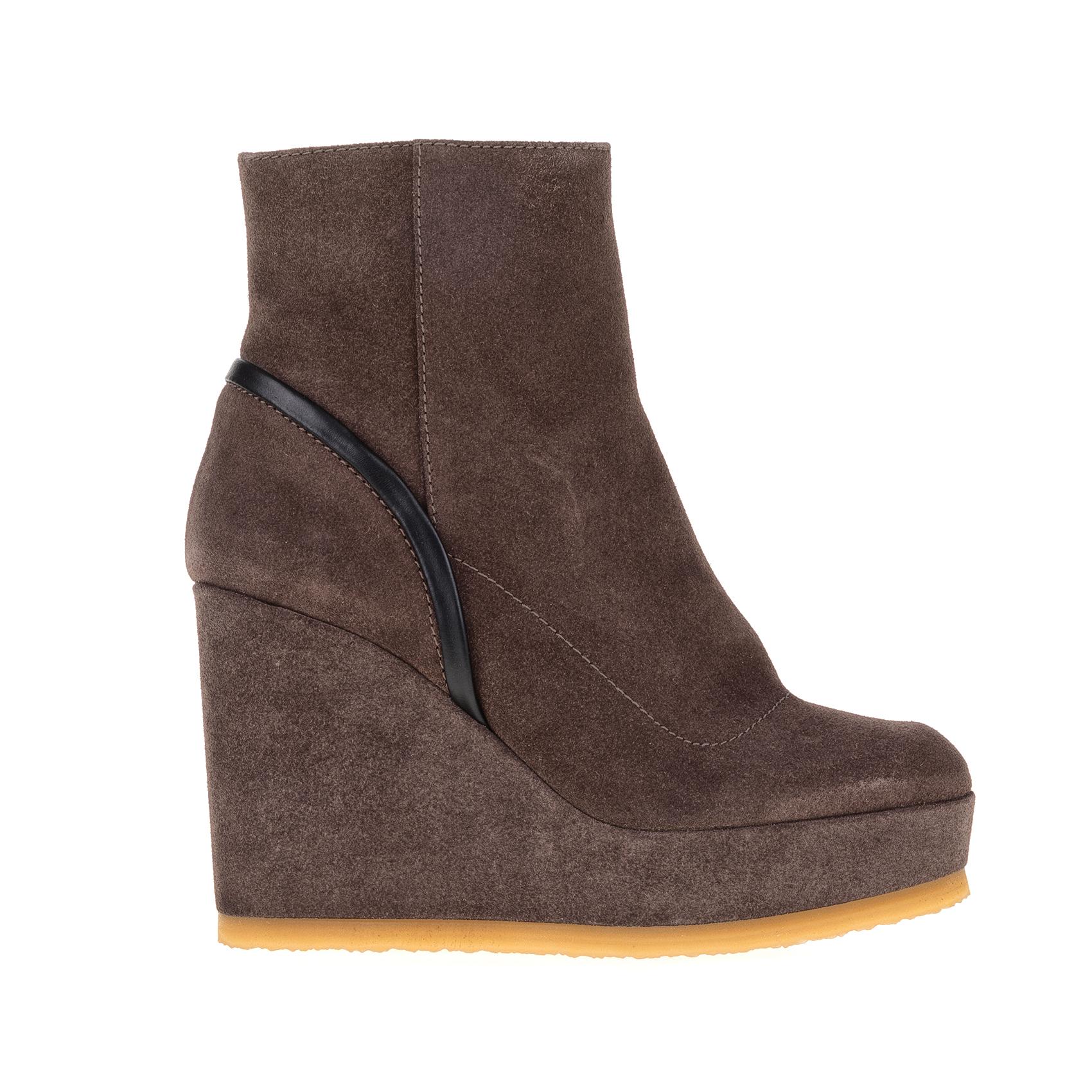 CASTANER - Γυναικεία μποτάκια CASTANER μπεζ-γκρι γυναικεία παπούτσια μπότες μποτάκια μποτάκια