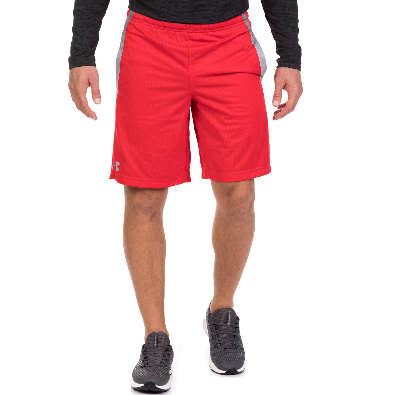 UNDER ARMOUR - Ανδρικό σορτς UA TECH MESH SHORT κόκκινο ανδρικά ρούχα σορτς βερμούδες αθλητικά