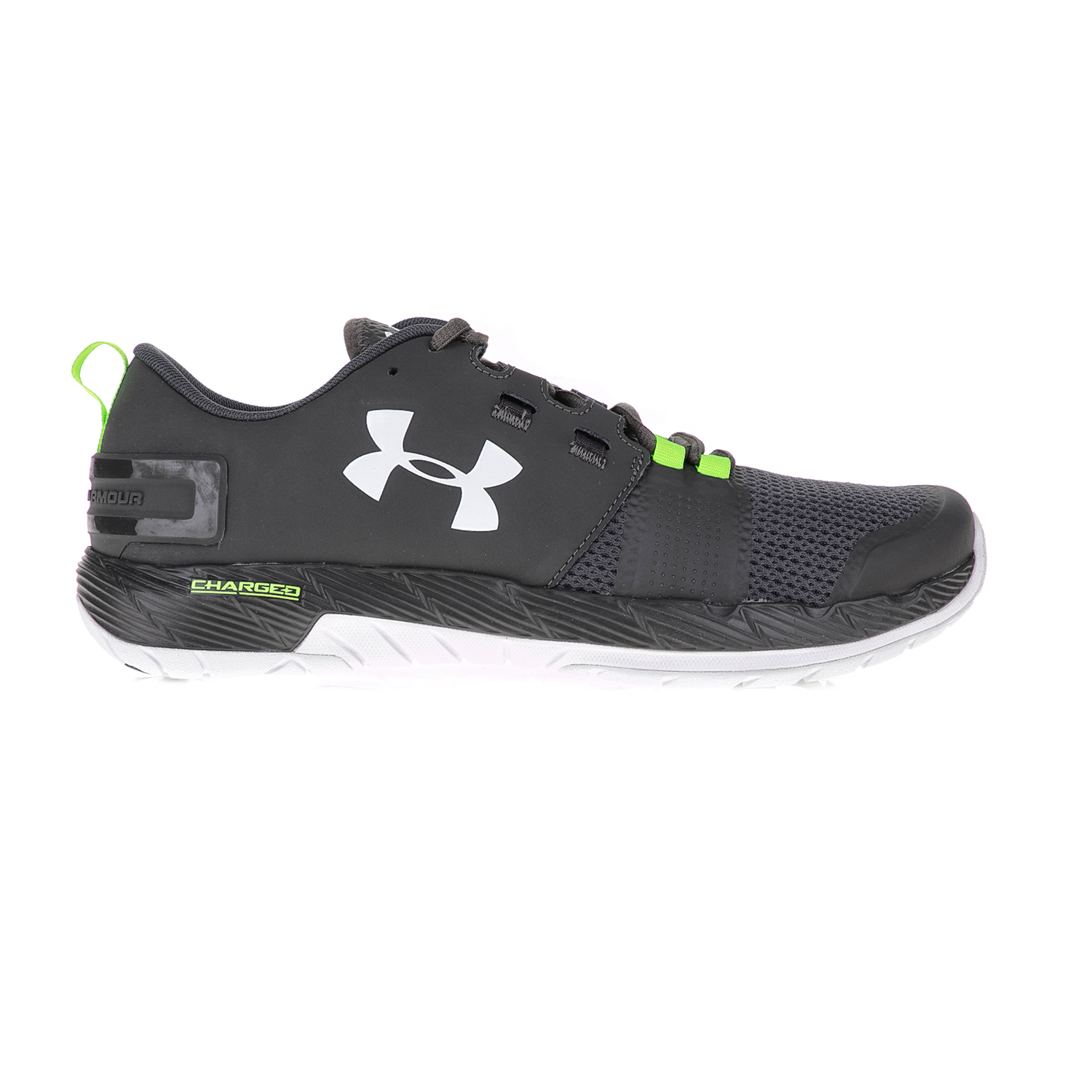 UNDER ARMOUR - Ανδρικά αθλητικά παπούτσια UNDER ARMOUR Commit TR γκρι-πράσινα ανδρικά παπούτσια αθλητικά training
