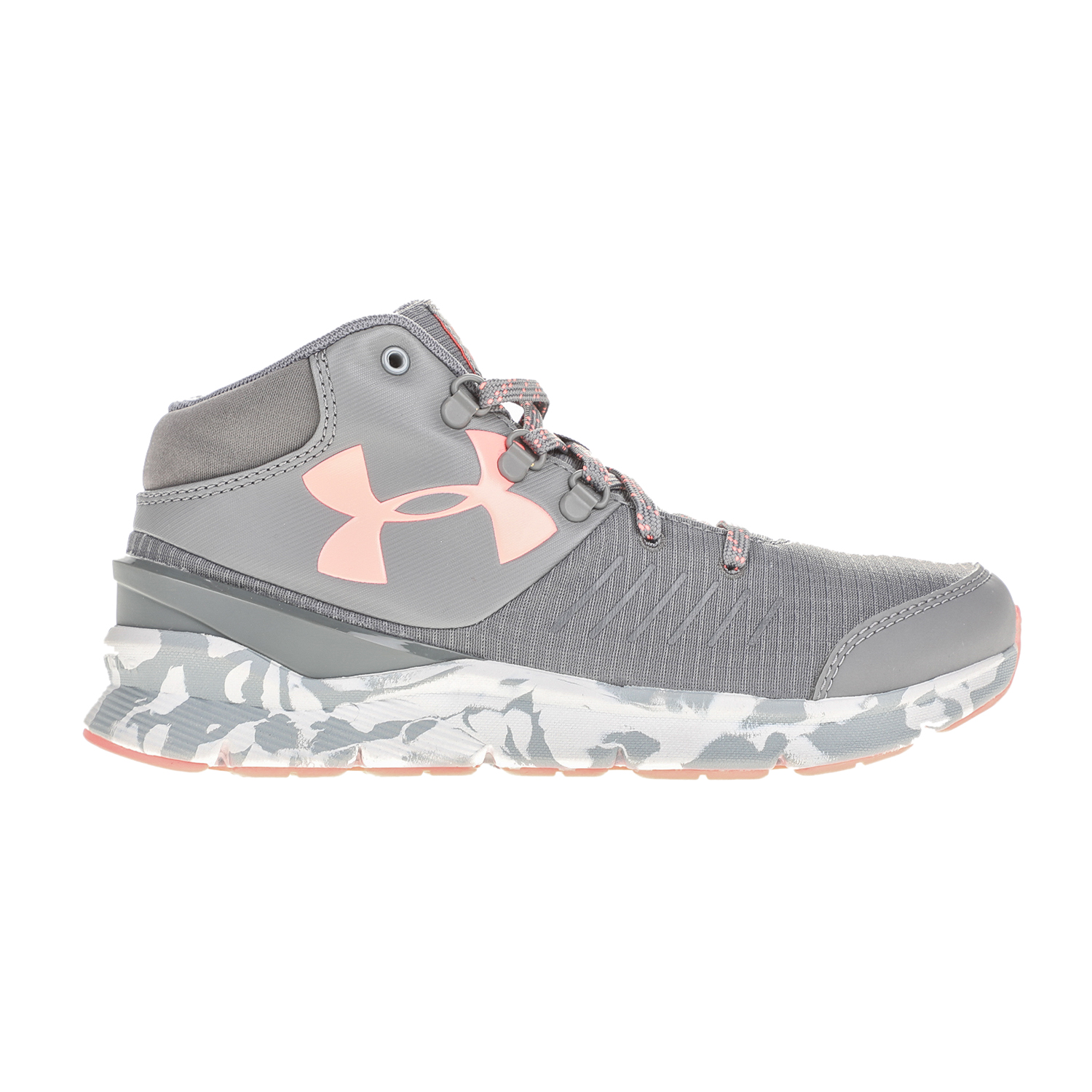UNDER ARMOUR – Κοριτσίστικα αθλητικά παπούτσια UNDER ARMOUR GGS OVERDRIVE MID MARBLE γκρι