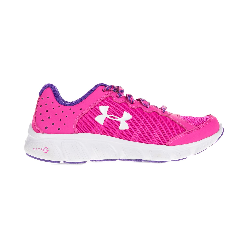 UNDER ARMOUR – Κοριτσίστικα αθλητικά παπούτσια UNDER ARMOUR GGS Micro G  Assert 6 φούξια. Factoryoutlet 7de5dd7228f