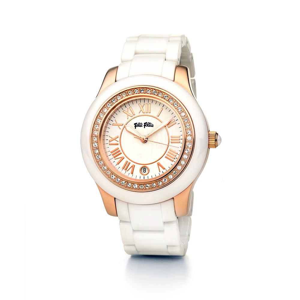 7de4e479da FOLLI FOLLIE - Γυναικείο ρολόι Folli Follie CERAMICA λευκό ...