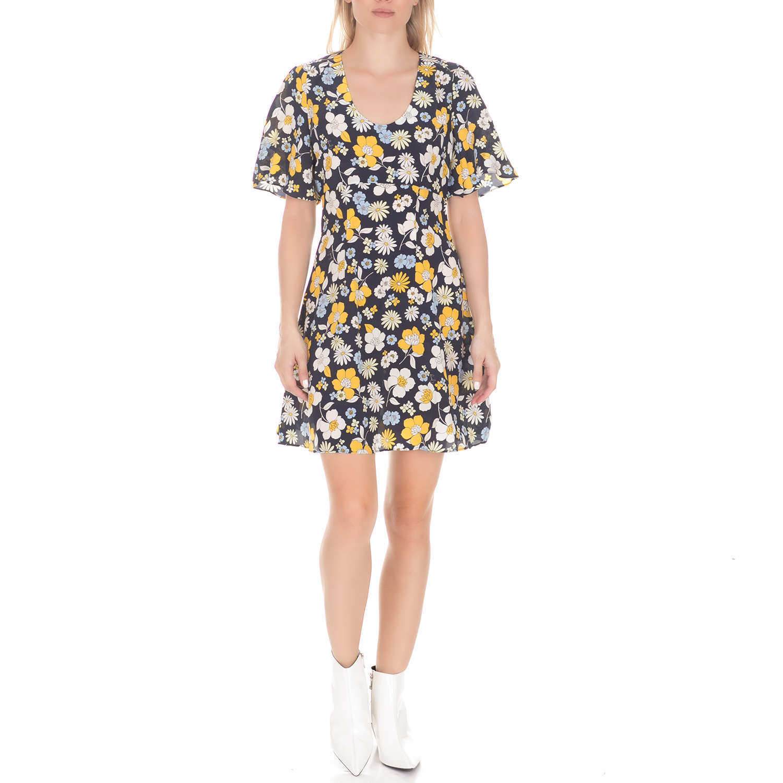 JUICY COUTURE - Γυναικείο μίνι φόρεμα JUICY COUTURE GARDEN FLORAL μπλε