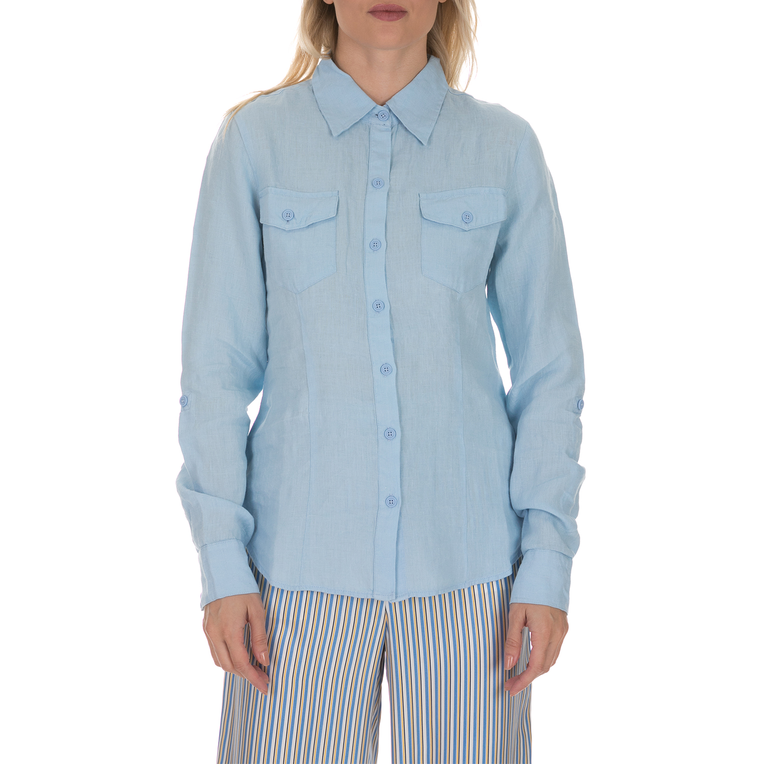JUICY COUTURE - Γυναικείο πουκάμισο JUICY COUTURE WASHED LIN...