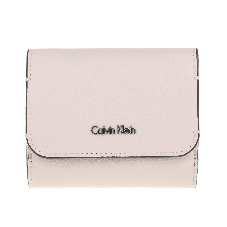 CALVIN KLEIN JEANS - Γυναικείο πορτοφόλι METROPOLITAN CALVIN KLEIN JEANS εκρού γυναικεία αξεσουάρ πορτοφόλια μπρελόκ πορτοφόλια