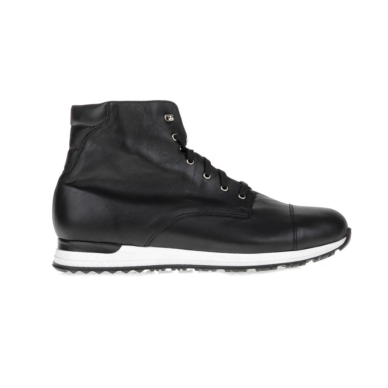 CHANIOTAKIS - Ανδρικά μποτάκια SPORT SIERRA μαύρα ανδρικά παπούτσια μπότες μποτάκια μποτάκια