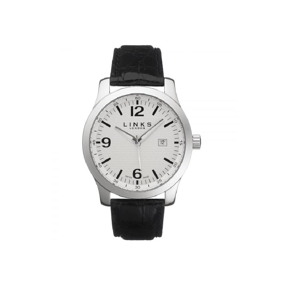 LINKS OF LONDON - Ανδρικό ρολόι Capital LINKS OF LONDON μαύρο ανδρικά αξεσουάρ ρολόγια δερμάτινα
