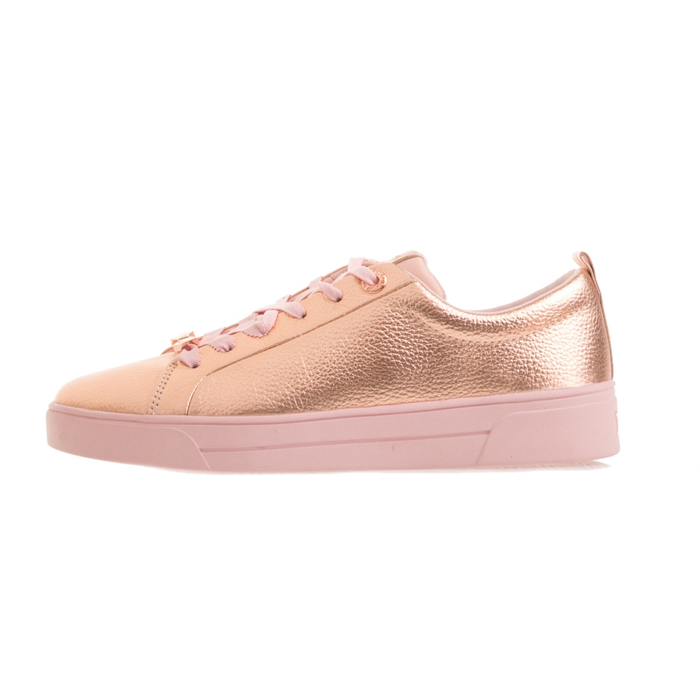 TED BAKER – Γυναικεία sneakers TED BAKER GIELLI ροζ χρυσά