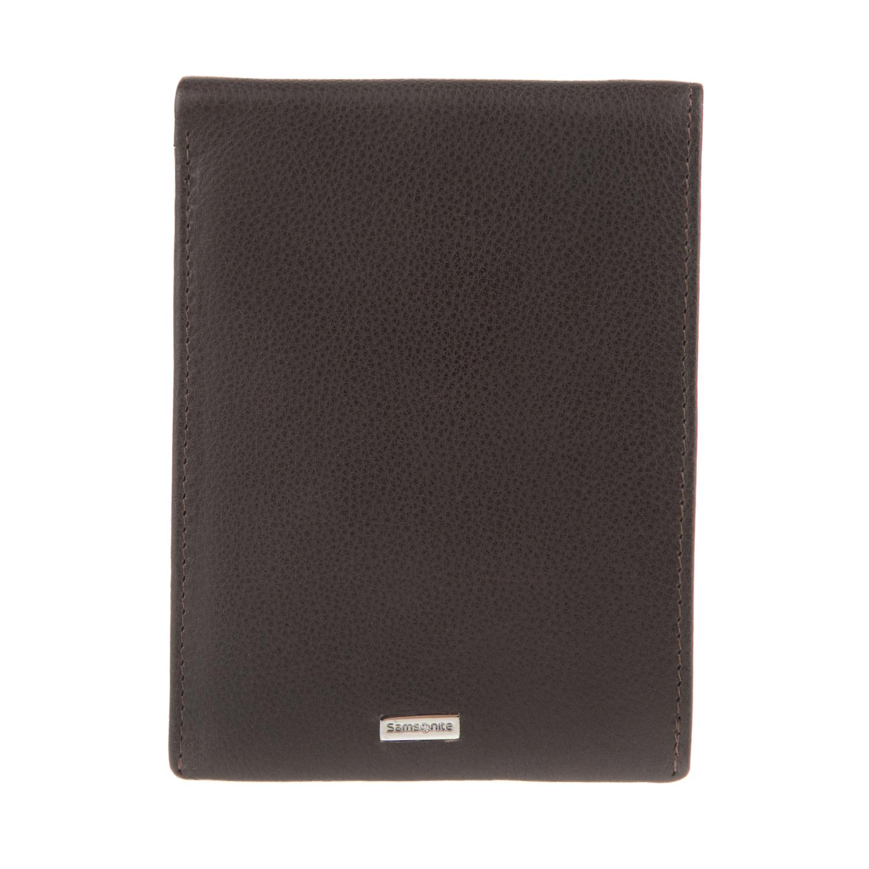 8c824a81fe SAMSONITE - Unisex δερμάτινο πορτοφόλι NYX SAMSONITE καφέ