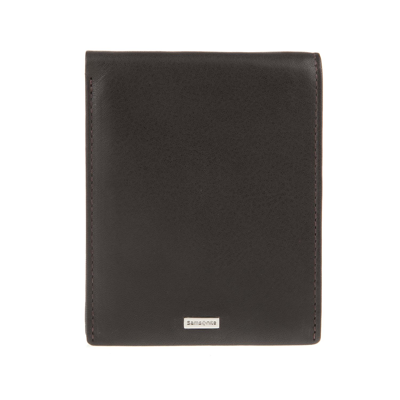 39746ce2a0 SAMSONITE - Unisex δερμάτινο πορτοφόλι NYX SAMSONITE σκούρο καφέ