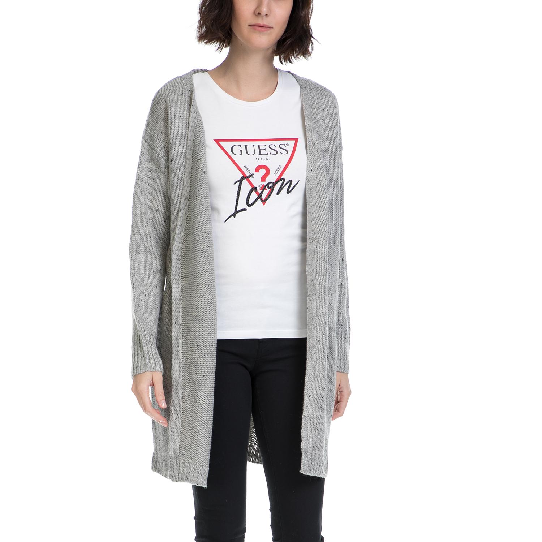 21be8feaf71 FUNKY BUDDHA – Γυναικεία πλεκτή ζακέτα FUNKY BUDDHA γκρι – Online Ρούχα