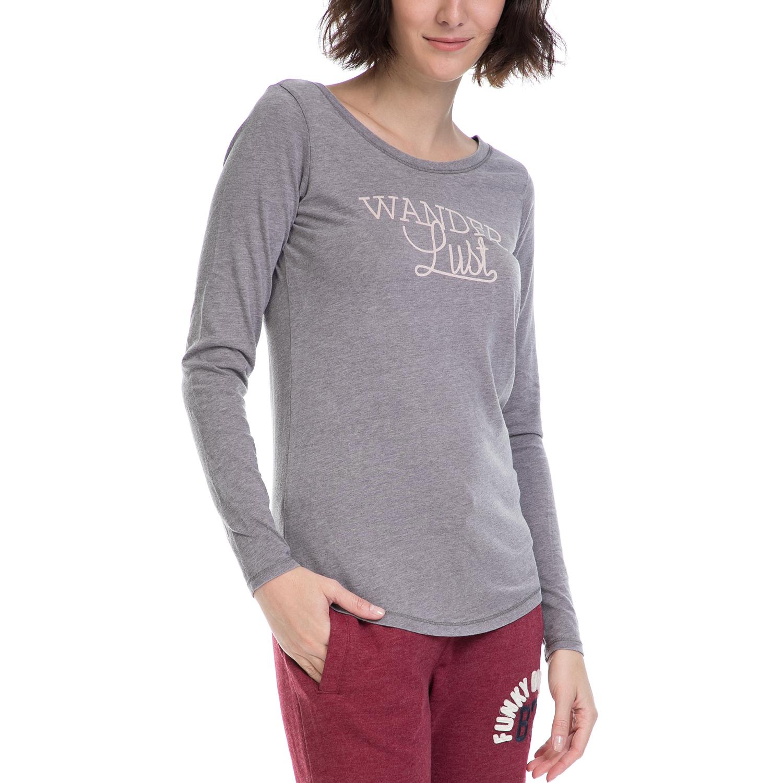 d9ae9f953e82 FUNKY BUDDHA - Γυναικεία μπλούζα FUNKY BUDDHA γκρι