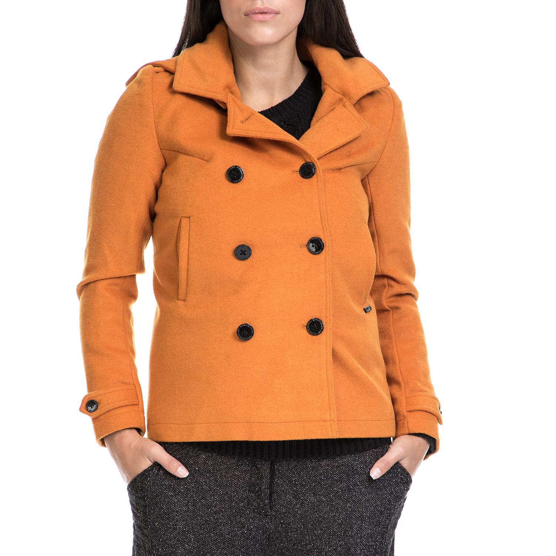 FUNKY BUDDHA - Γυναικείο παλτό FUNKY BUDDHA κίτρινο γυναικεία ρούχα πανωφόρια παλτό