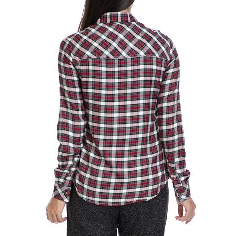 e83a123ed59a Γυναικείο πουκάμισο FUNKY BUDDΗA κόκκινο-λευκό - FUNKY BUDDHA ...