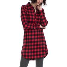 FUNKY BUDDHA-Γυναικείο πουκάμισο FUNKY BUDDΗA μαύρο-κόκκινο