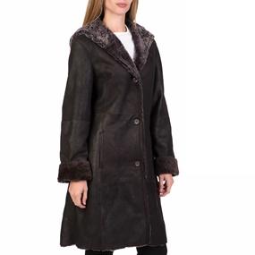 ARMA MAYS   ROSE. Γυναικείο δερμάτινο μακρύ παλτό με κουκούλα ... 498f88ae4b9