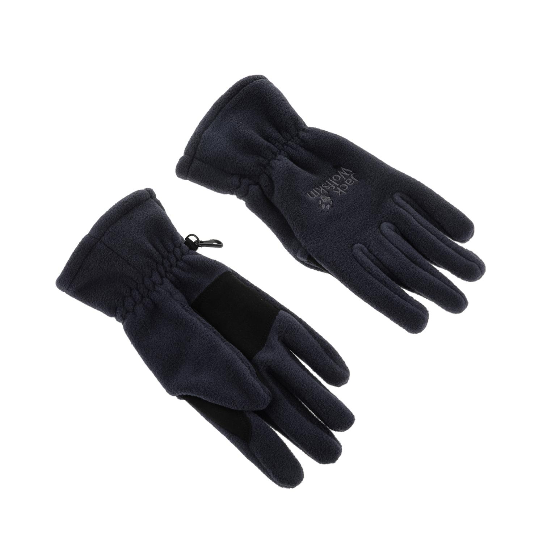 JACK WOLFSKIN - Unisex γάντια Jack Wolfskin ARTIST σκούρο γκρι γυναικεία αξεσουάρ φουλάρια κασκόλ γάντια