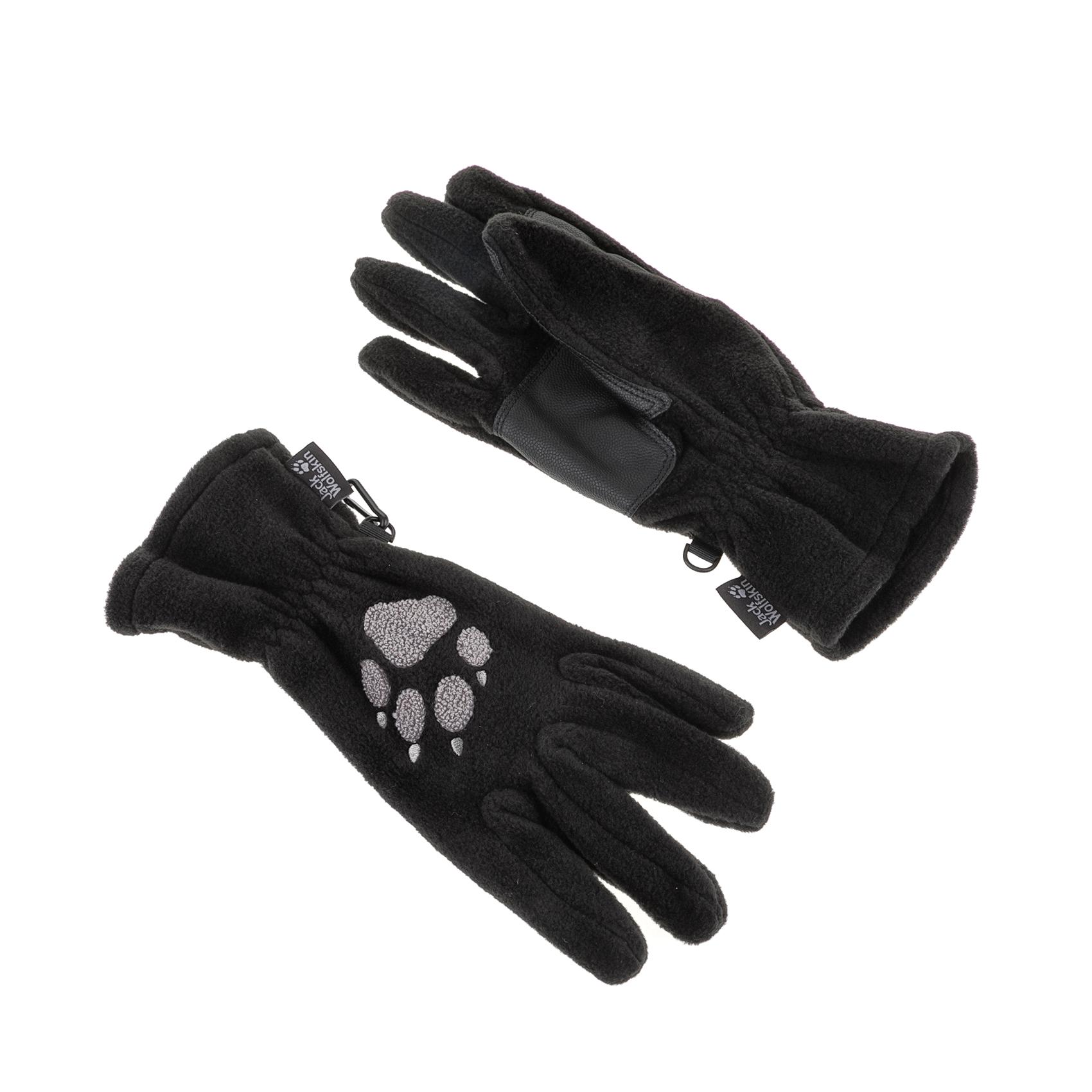 JACK WOLFSKIN - Unisex γάντια PAW GLOVES μαύρα γυναικεία αξεσουάρ φουλάρια κασκόλ γάντια
