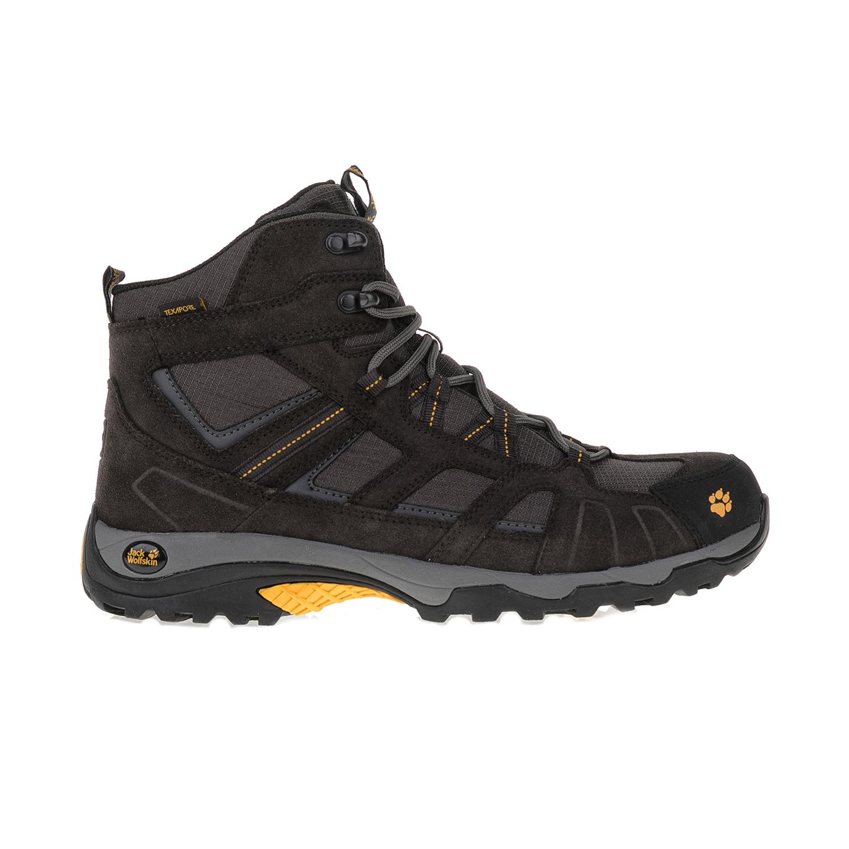 JACK WOLFSKIN - Ανδρικά μποτάκια πεζοπορίας VOJO HIKE MID TEXAPORE μαύρα ανδρικά παπούτσια μπότες μποτάκια μποτάκια