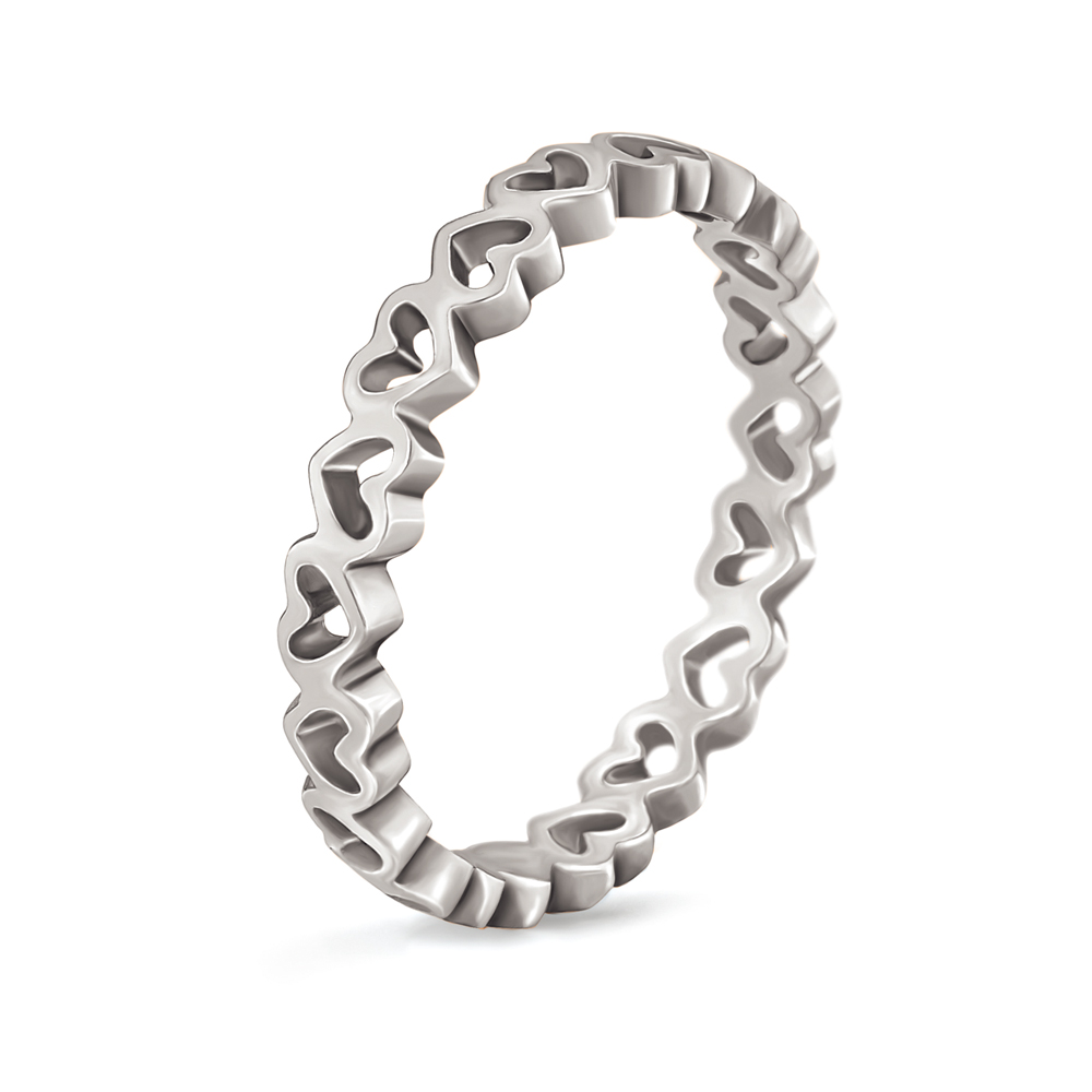 FOLLI FOLLIE - Γυναικείο επάργυρο δαχτυλίδι με καρδιές LOVE&FORTUNE ασημί γυναικεία αξεσουάρ κοσμήματα δαχτυλίδια