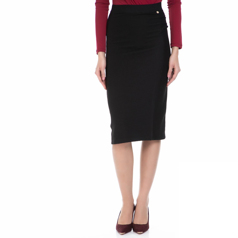 VS - Γυναικεία φούστα VS μαύρη γυναικεία ρούχα φούστες μέχρι το γόνατο