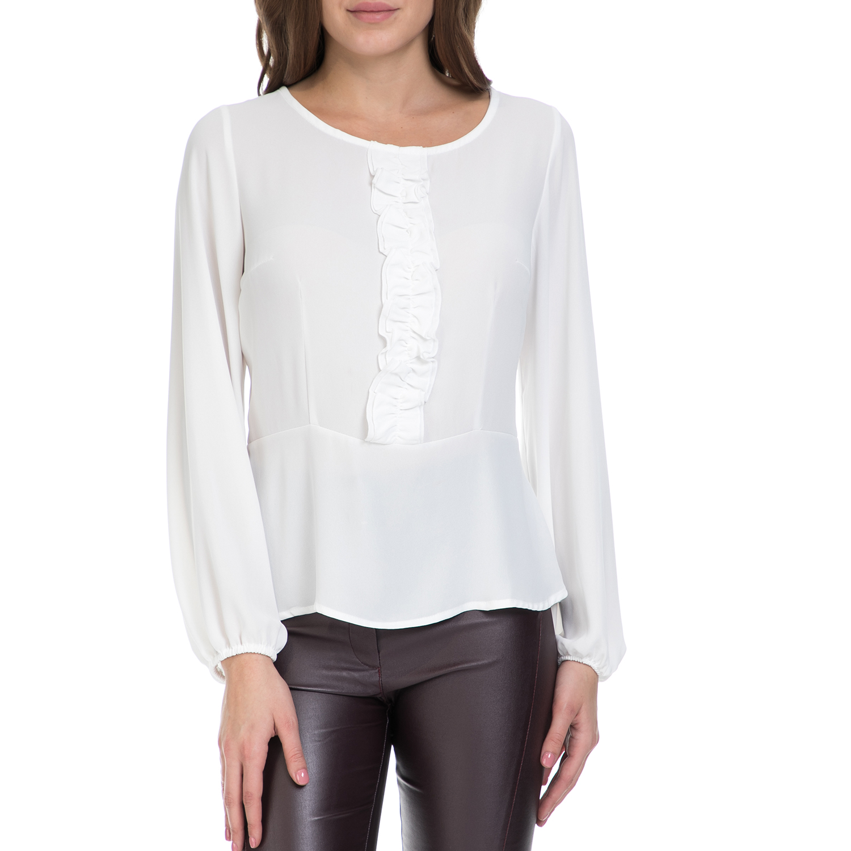VS - Γυναικεία μπλούζα VS λευκή γυναικεία ρούχα μπλούζες μακρυμάνικα