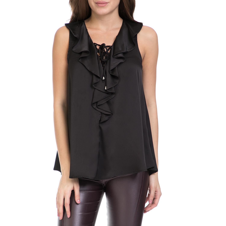 MY TIFFANY - Γυναικεία μπλούζα MY TIFANNY μαύρη γυναικεία ρούχα μπλούζες αμάνικες
