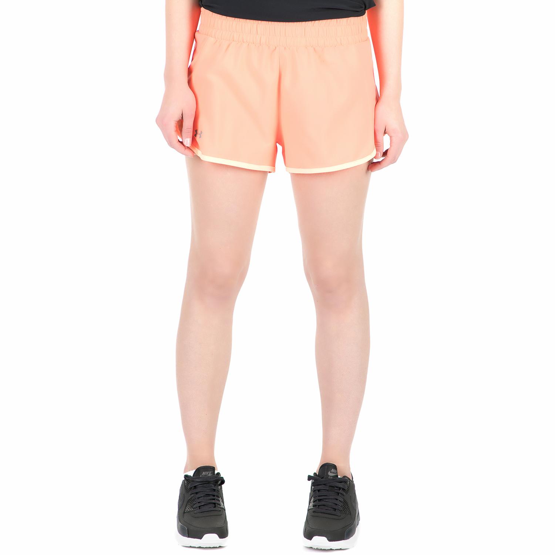 UNDER ARMOUR - Γυναικείο αθλητικό σορτς Launch Tulip πορτοκαλί γυναικεία ρούχα σορτς βερμούδες αθλητικά