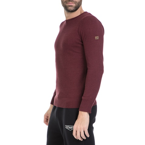 Ανδρικό πουλόβερ BATTERY μπορντώ (1640188.0-00q5)  a2b2e9dbed6