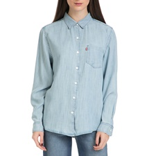 LEVI'S-Γυναικείο πουκάμισο SIDNEY 1 POCKET BOYFRIEND LIGHT μπλε