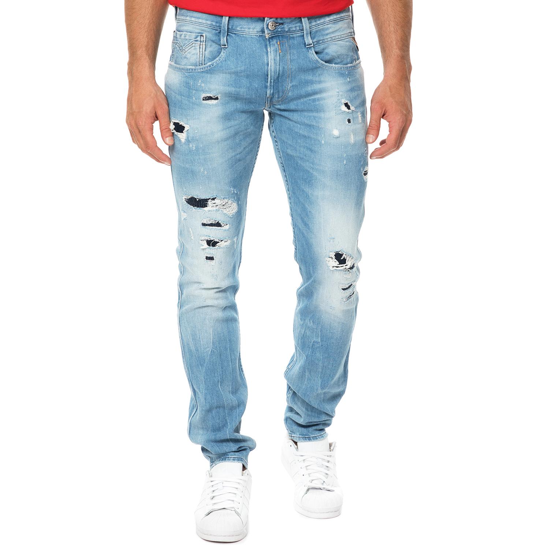 REPLAY - Ανδρικό τζιν παντελόνι REPLAY γαλάζιο ανδρικά ρούχα τζίν straight