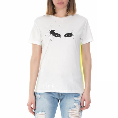 daab81b7d481 Γυναικεία κοντομάνικη μπλούζα Replay λευκή (1640820.0-0144 ...