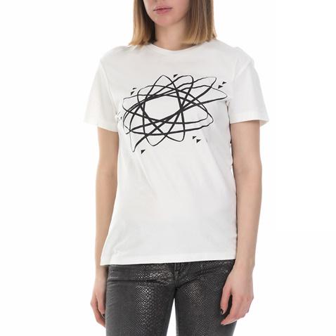 f2084b49f2d8 Γυναικεία κοντομάνικη μπλούζα Replay λευκή (1640821)