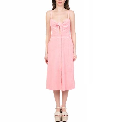 304cedb94ab9 Γυναικείο midi φόρεμα MICROTERRY TIE FRONT JUICY COUTURE ροζ  (1641583.0-00p7)