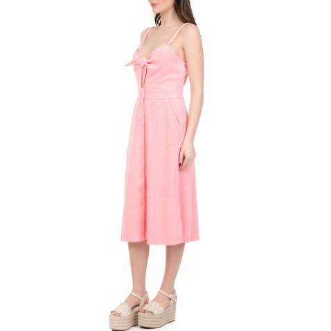 d584b05e1d3a Γυναικείο midi φόρεμα MICROTERRY TIE FRONT JUICY COUTURE ροζ ...