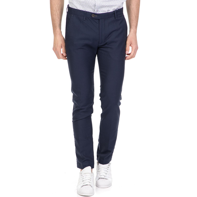 TED BAKER - Ανδρικό παντελόνι CAZZMAN TED BAKER μπλε ανδρικά ρούχα παντελόνια ισια γραμμή