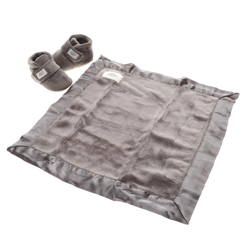 UGG – Βρεφικό σετ μποτάκια κουβερτάκι UGG Bixbee and Lovey ανθρακί