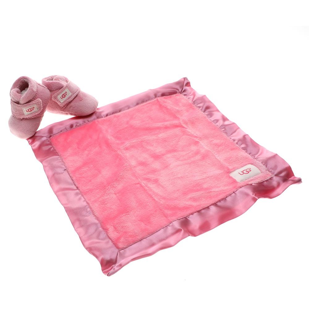 UGG – Βρεφικό σετ μποτάκια κουβερτάκι UGG Bixbee and Lovey ροζ