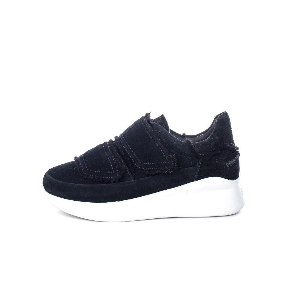 UGG – Γυναικεία δερμάτινα παπούτσια UGG Ashby Spill Seam μαύρα