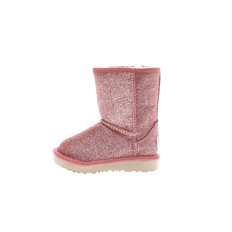 UGG – Παιδικές μπότες UGG T Classic Short II Glitter ροζ