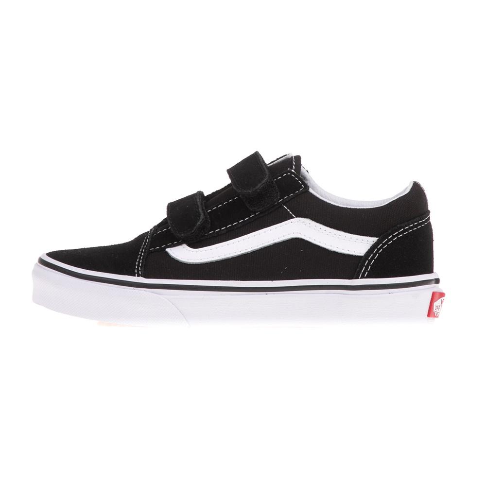 VANS – Παιδικά sneakers με βέλκρο VANS OLD SKOOL μαύρα