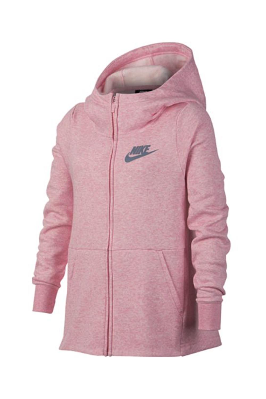 NIKE - Κοριτσίστικη ζακέτα με κουκούλα Nike Sportswear ροζ παιδικά girls ρούχα αθλητικά