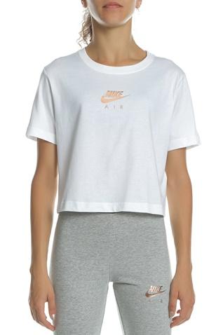 3f2a36df954c Γυναικεία κοντομάνικη μπλούζα NIKE NSW AIR TOP SS CROP λευκή  (1644515.1-9191)