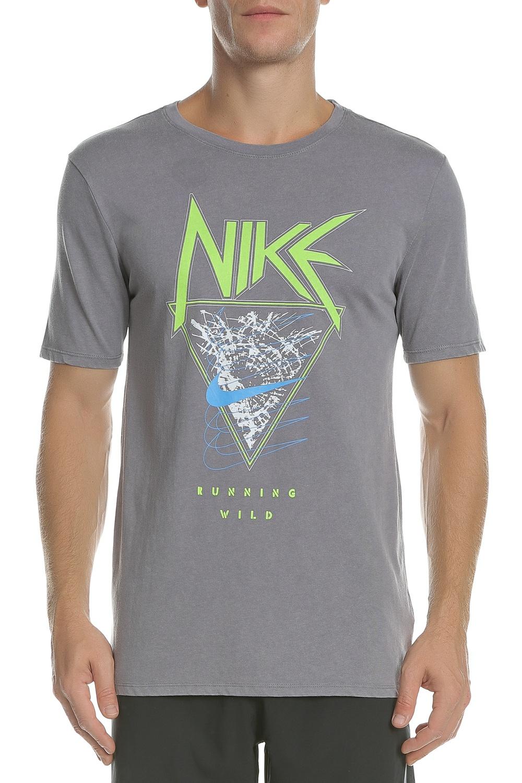 0f1fa08392ca NIKE - Ανδρική κοντομάνικη μπλούζα NIKE DRY TEE METAL γκρι