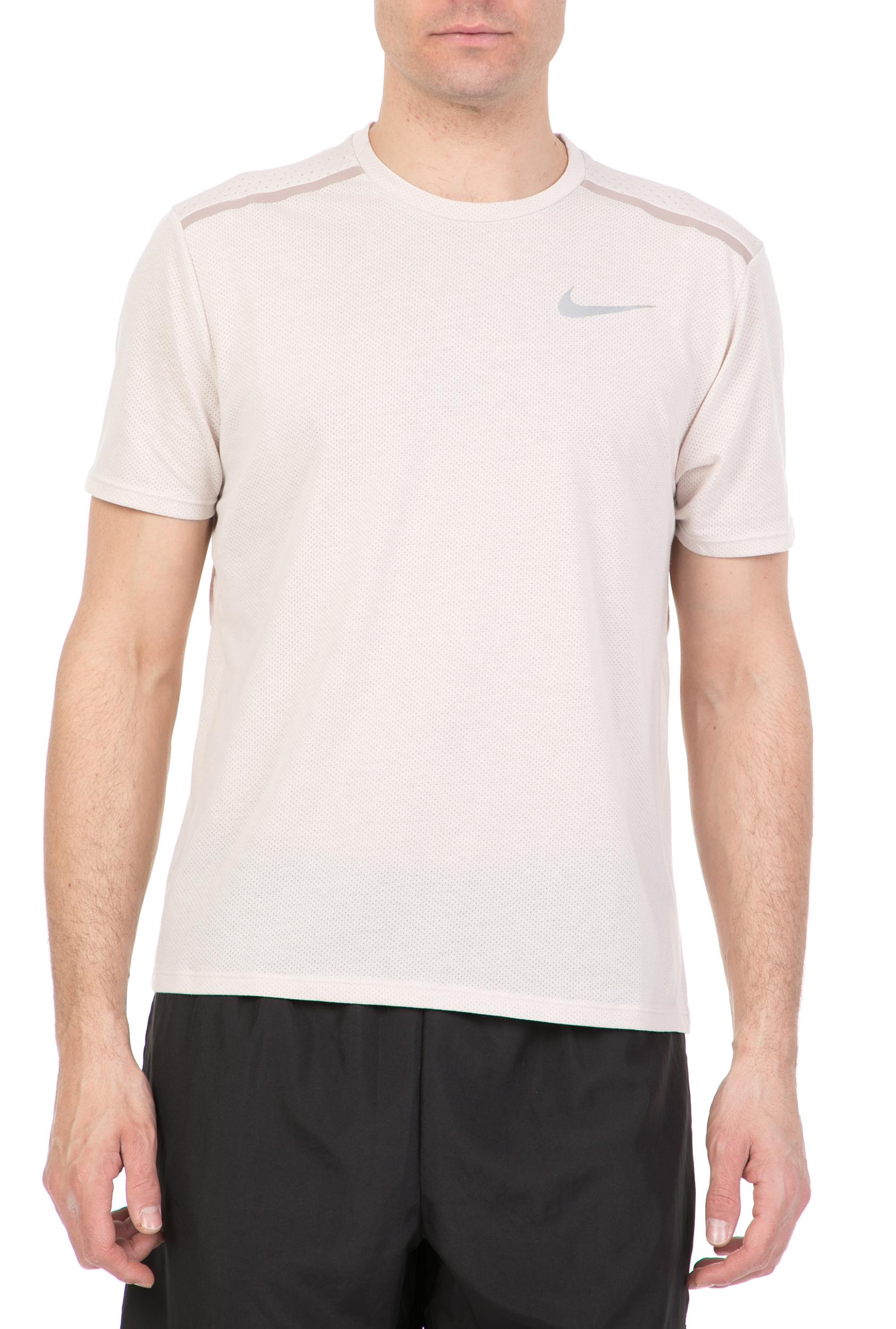 e9329d94ef3b NIKE - Ανδρική κοντομάνικη μπλούζα για τρέξιμο Nike Breathe εκρού