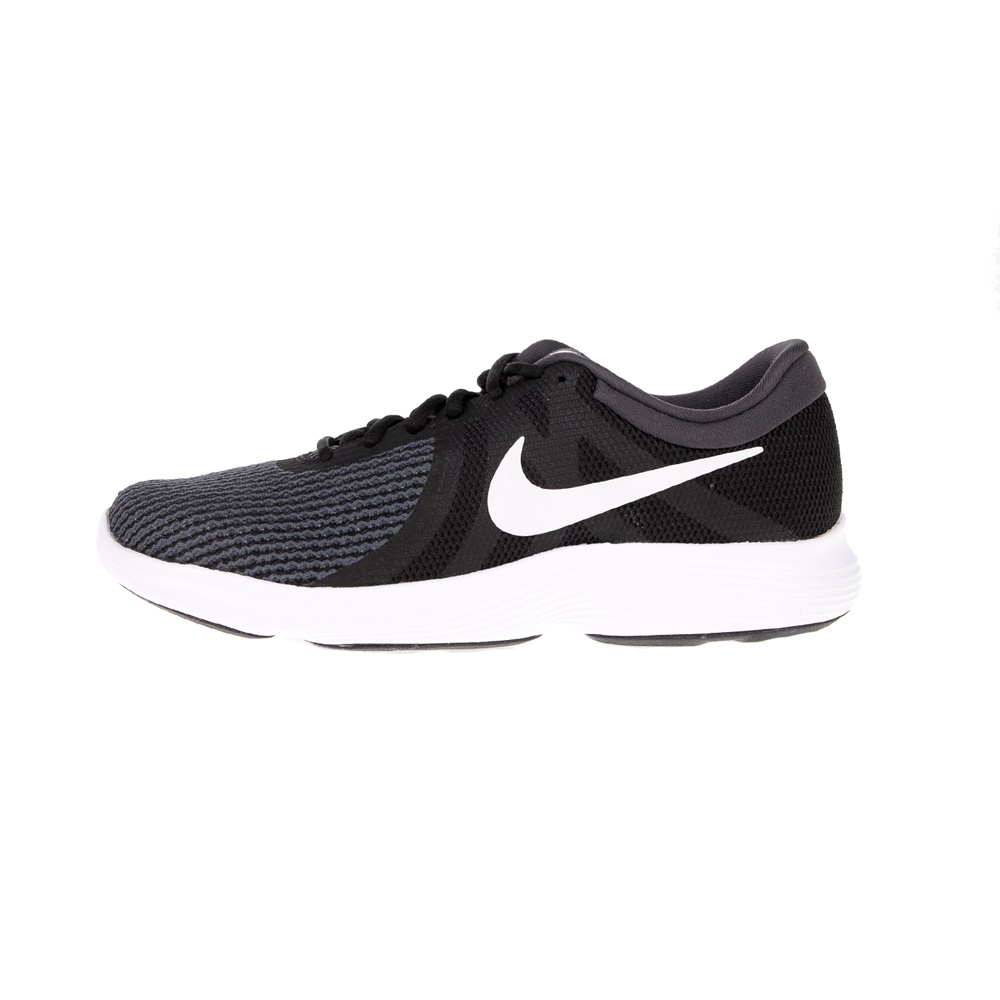 NIKE – Ανδρικά αθλητικά παπούτσια NIKE REVOLUTION 4 EU μαύρα λευκά