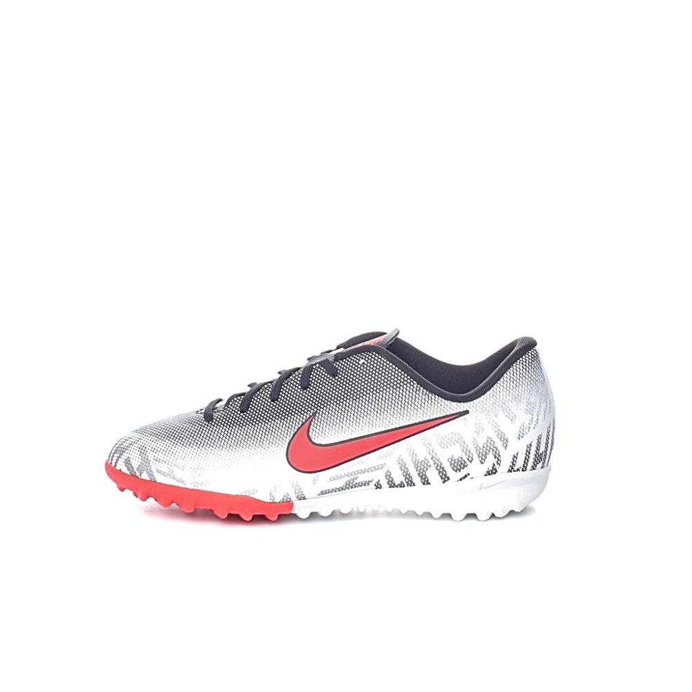 NIKE – Παιδικά παπούτσια ποδοσφαίρου JR VAPOR 12 ACADEMY GS NJR TF λευκά-γκρι